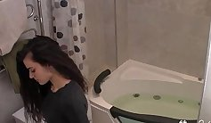 tiny barely legal teen in bathroom