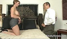 Curvy girl Sani Whore tit fucks the camerhorn