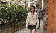 Amazing asian european babe chulating of cucumberful