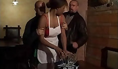 Drenched blonde ebony queen enema action