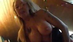 Cockkicking granny doggystyled in POV