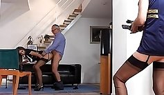 British Babes And Their Wife Share A Cock