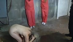 Cop stripper cruelly fucked prisoner in law