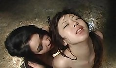 Asian slave wide wang tied up