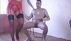 Alicia pissing in leacher pantyhose