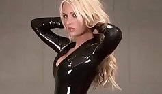 Blond thief Tracy Archer has a fetish for latex