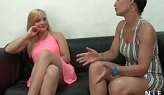 Casting video of a french amateur blonde
