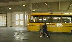 school bus winter handjob