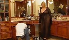 Wife gives young blonde pussy to her boyfriend