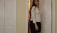 Kinky mom blows son on his propestroom stage