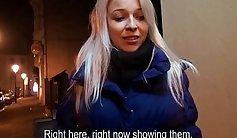 Czech shyenass gives a blowjob and sucks it for camera team
