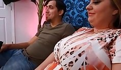 Busty chubby milf takes some cock to the face