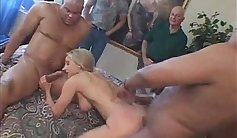Let her husband fuck agains her tight pussy