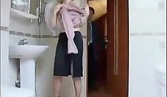 Breastfeeding Russian Breeding and Sucking Bathroom