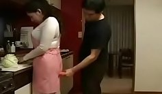 Japanese Asian Gets Creampied in Her Kitchen