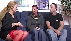 Awesome Threesome with german girl and couple