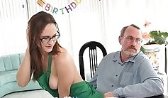 Coeds and young couple ends up instead having a party