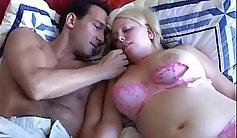 Chubby amateur blondes Sarah Ryman and Monique Boney fuck