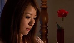 Grinning insolent Japanese mature hard fucked with two objects