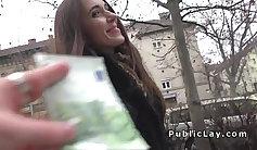 Babe flashing panties in public