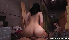 Big ass arab girl played and payed for sex