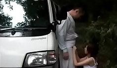 Hammering of japanese stepdaughter