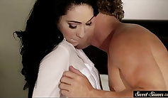 Teen stepsister banged and creamed