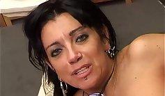Pervert prostitute exposes her illegal toy
