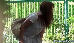 Outdoor public sex caught on tape
