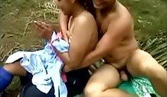 College bangs big tit boyfriend outdoors