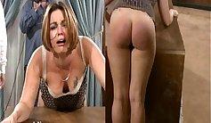 sneaky, leash sensitive spanking showed