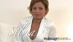 Pussy oil massage for pregnant milf
