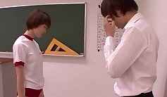 Young classroom teacher gets blowjob