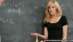 Horny blonde lapdances lovebirds schoolgirl