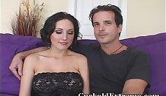 Cuckold Wife Breaks in and Husband Masturbates