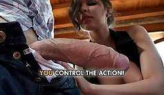 Charming brunette Gabriella gets double teamed