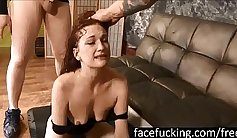 Callie Lavey Swallows Huge Cock