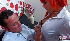 Cheating redhead exgirlfriend likes it hot
