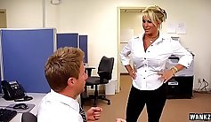 MILF banged by her boss and honey