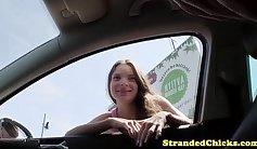 Beautiful Teenie Britney - POV - Field Trip Outdoors