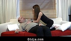 Lucky guy has trouble fucking sexy young sweetheart