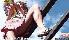 allys daughter panties Sneaking in the Base