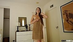 Stepfamily teen threeway with horny stepsister and her stepmom