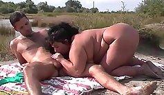 Chubby geisha loves cock outdoors