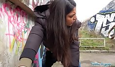 Fucking in public outdoor creampie with a bang his wet dream