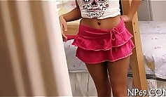 Brunette Teen Saying Bad Things And Horny